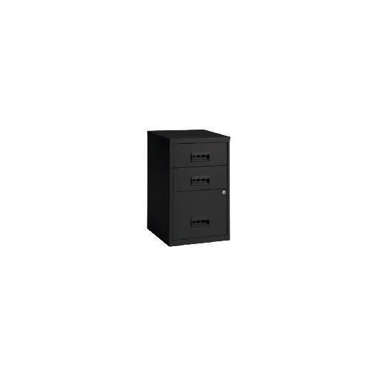 Black Combi 3 Drawer Filing Cabinet