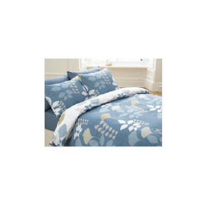 Photo of Tesco Overlap Leaf Print Duvet Set Double, Multi Bed Linen