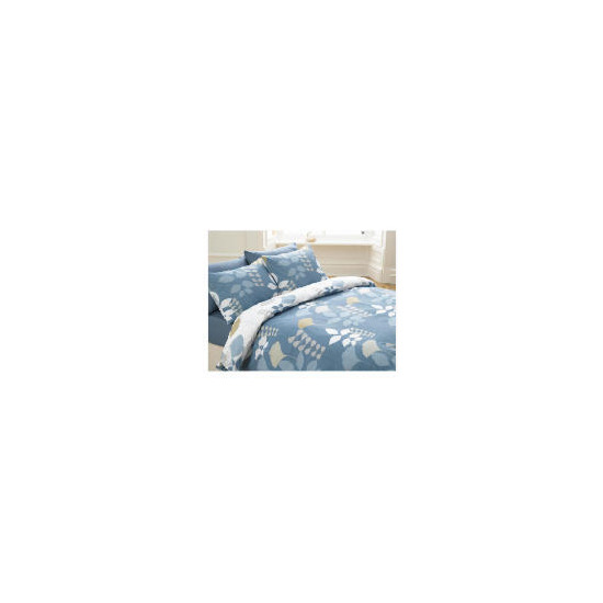 Tesco Overlap Leaf Print Duvet Set Double, Multi