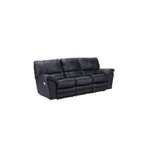 Photo of Madrid Large Leather Recliner Sofa, Black Furniture