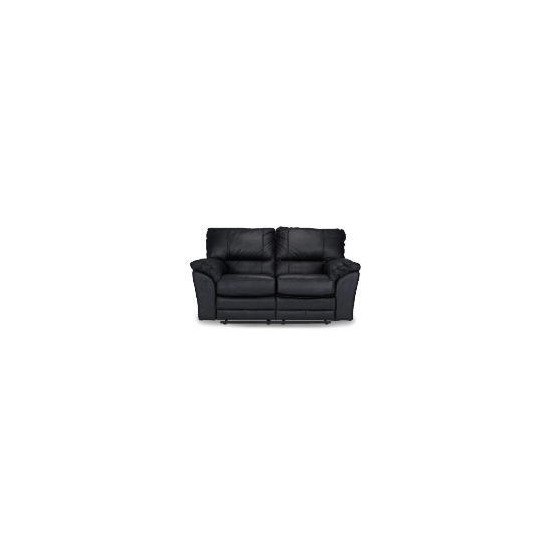 Madrid Leather Recliner Sofa, Black