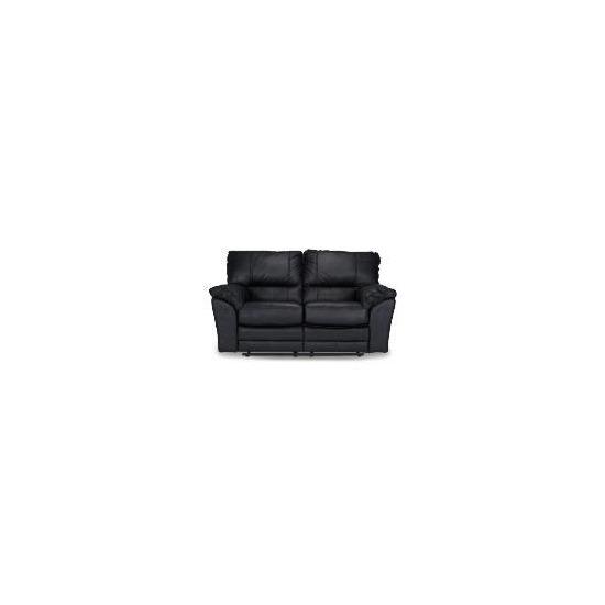 Madrid Leather Recliner Sofa, Black
