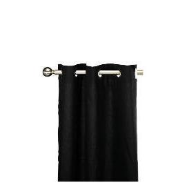Tesco Plain Canvas Unlined Eyelet Curtain 117x137cm, Black Reviews