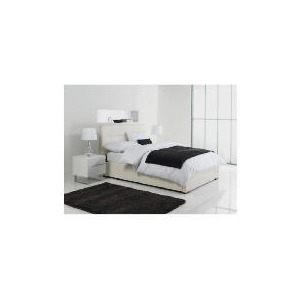 Photo of Orleans Double Faux Leather Storage Bed, White Bedding