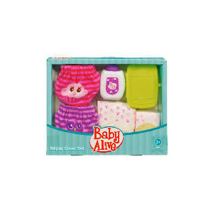 Photo of Baby Alive Snuggle Sweet Diaper Set Toy