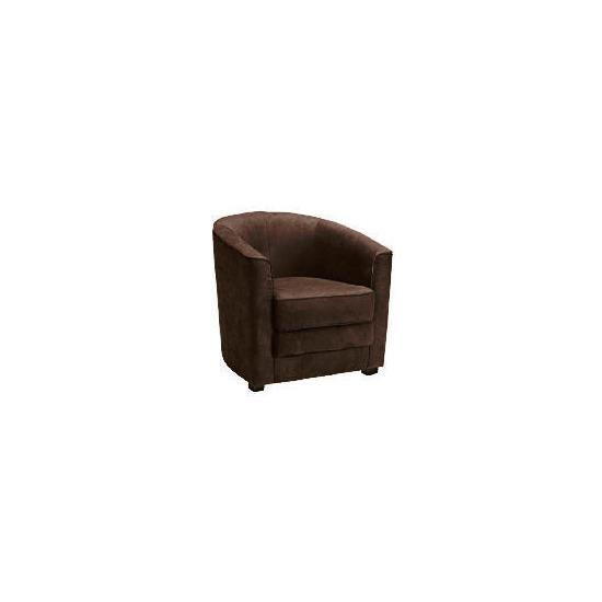 Miami Faux Suede Tub Chair, Brown
