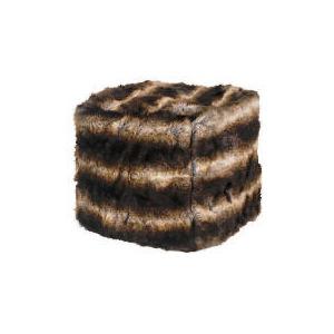 Photo of Faux Fur Beancube Brown/Black 45X45 Furniture