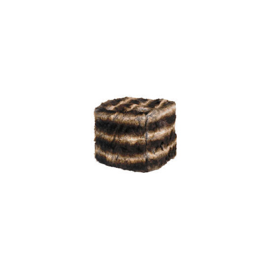 Faux Fur Beancube Brown/Black 45x45