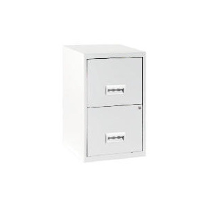 Photo of 2 Drawer White Filing Cabinet Maxi Office Furniture
