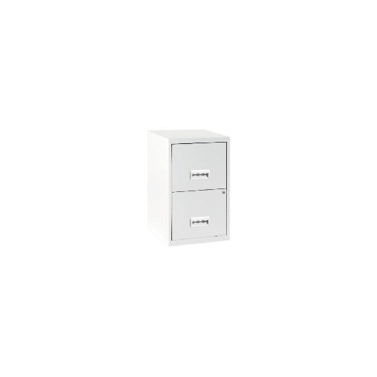 2 Drawer White Filing Cabinet Maxi