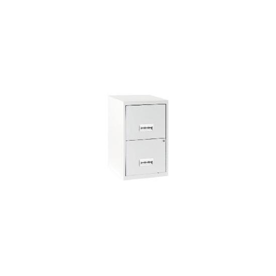 2 Drawer White Filing Cabinet Maxi
