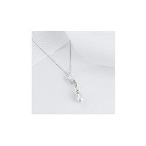 Photo of 9CT WHITE GOLD PEARL DROP PENDANT Jewellery Woman