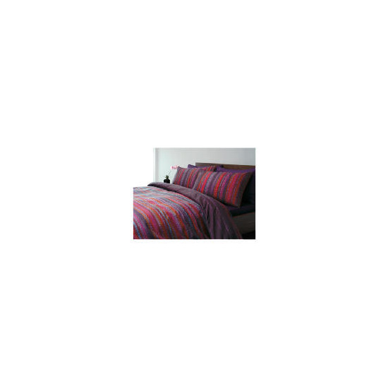Tesco Celio Print Duvet Set Single, Plum
