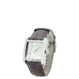 Armani Mens Leather Strap Square Face Watch Reviews