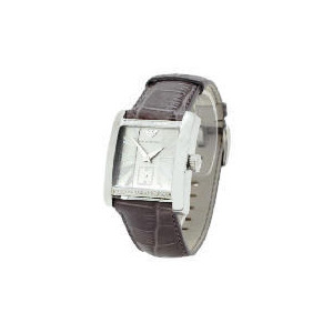 Photo of Armani Mens Leather Strap Square Face Watch Watches Man