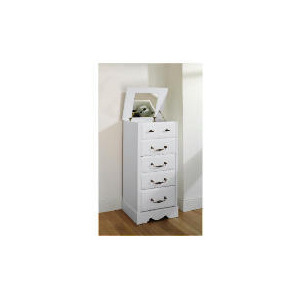 Photo of Dorset 4 & 2 Drawer Tall Chest White Furniture