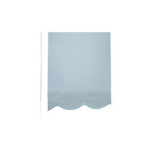 Photo of Scalloped Edge Roller Blind 90CM Blue Curtain