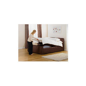 Photo of Santorini Double Bed, Brown Bedding