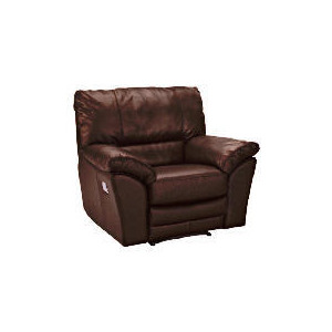 Photo of Madrid Leather Recliner Armchair, Brown Furniture