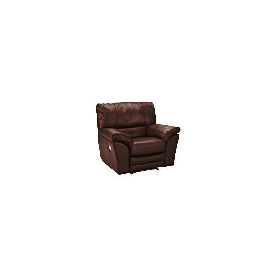 Madrid Leather Recliner Armchair, Brown