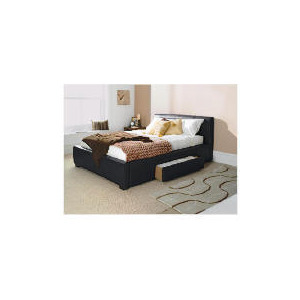 Photo of Bernay Double Bed, Black Bedding