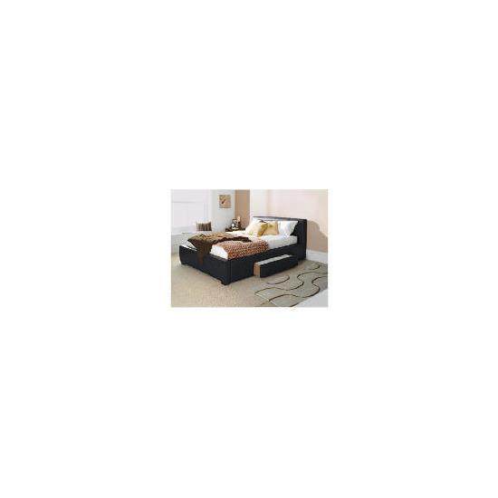 Bernay double bed, black