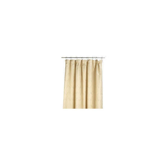 Tesco Metallic Jacquard Lined Pencil Pleat 163x229, Cream