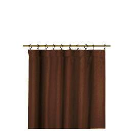 Tesco Plain Canvas Unlined Pencil Pleat Curtain 229x183cm, Chocolate Reviews