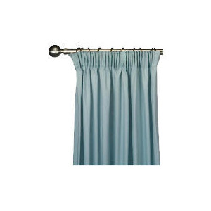 Photo of Tesco Plain Canvas Unlined Pencil Pleat Curtain 117X137CM, Duck Egg Curtain