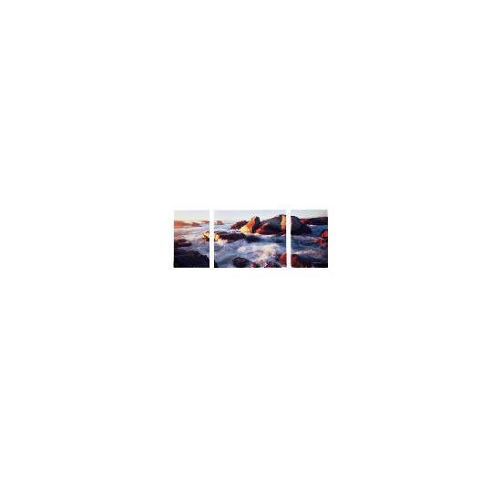 Sea Breeze Canvas Set Of 3 100x40cm