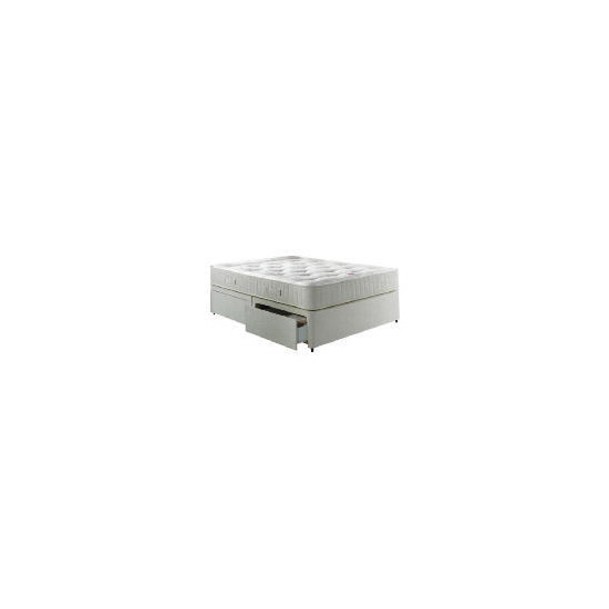 Wembury 2 Drawer Double Divan Set With Trizone Mattress