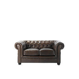 Chesterfield Leather Sofa, Antique Brown Reviews