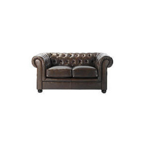 Photo of Chesterfield Leather Sofa, Antique Brown Furniture