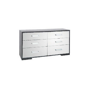 Photo of Sophia 6 Drawer Wide Chest Mirrored Furniture