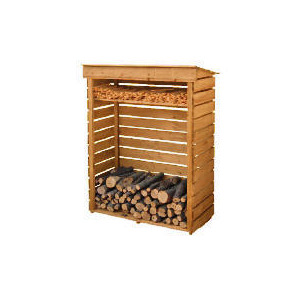 Photo of Wooden Log Store Small Shed