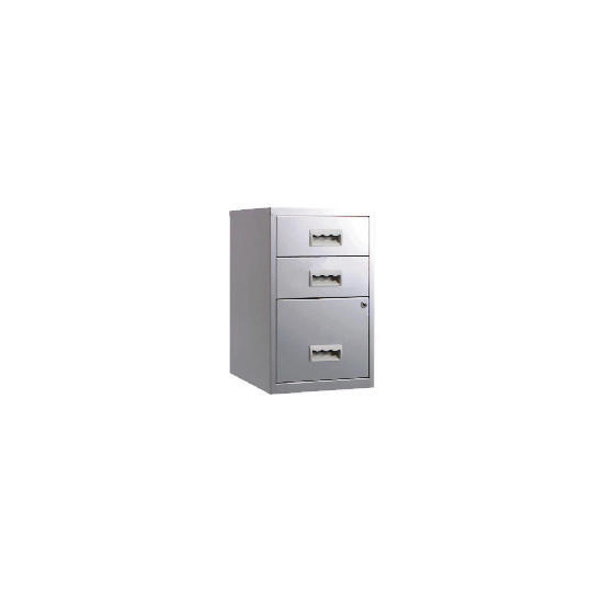 Silver Combi 3 Drawer Filing Cabinet