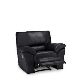 Madrid Leather Recliner Armchair, Black Reviews