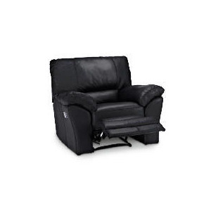 Photo of Madrid Leather Recliner Armchair, Black Furniture