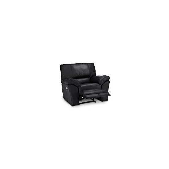 Madrid Leather Recliner Armchair, Black