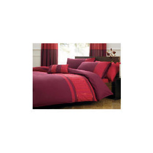 Photo of Tesco Texas Embroidered Duvet Set Double, Plum Bed Linen