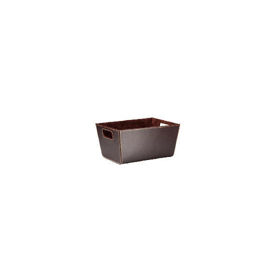 Tesco Faux Leather Shelf Basket