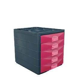Multi 5 Drawer Desktop Closed Pink Reviews