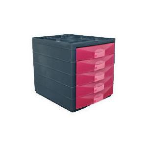Photo of Multi 5 Drawer Desktop Closed Pink Office Furniture