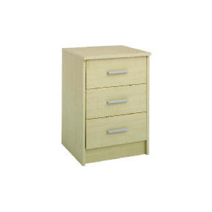 Photo of Compton 3 Drawer Bedside Chest Maple Furniture