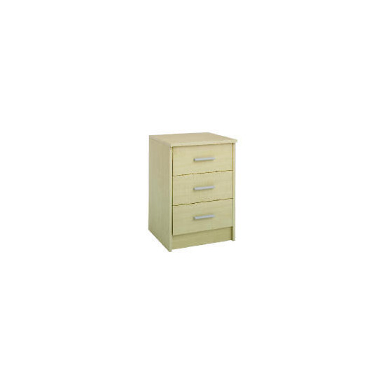 Compton 3 Drawer Bedside Chest Maple
