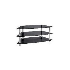 Photo of Mercury 3 Shelf Corner Unit Black TV Stands and Mount