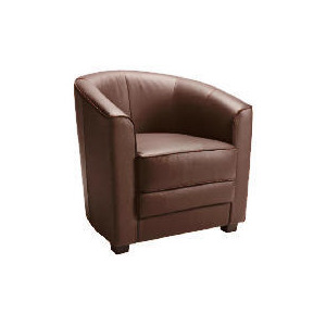 Photo of Miami Leather Tub Chair, Brown Furniture