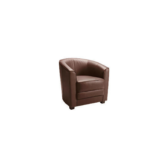 Miami Leather Tub Chair, Brown