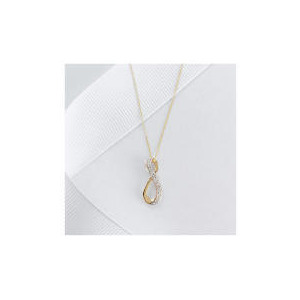 Photo of 9CT GOLD DIAMOND TWIST PENDANT Jewellery Woman
