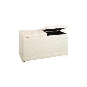 Photo of Blenheim Twin Lid Ottoman, Oyster Damask Furniture